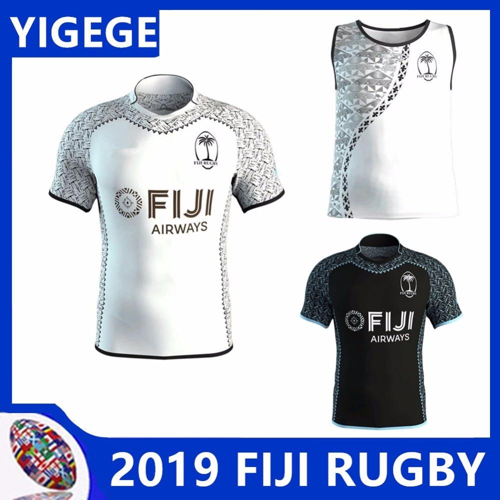 5f49e0481e6 2019 FIDSCHI RUGBY 2018 TRAINING SINGULETT Fidschi rugby trikots 2018 home  away nationalen team 2018 Fidschi