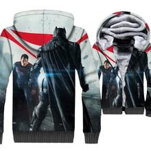 Superman VS Batman Hot Sale Men 3D Hoodies 2019 New Autumn Winter Long Sleeve Sweatshirt Thick Warm Jackets Mens Streetwear