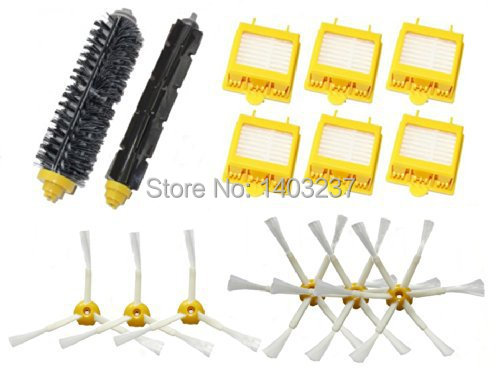 Hepa Filters Bristle Brush Flexible Beater Brush 3-Armed 6-Armed Side Brush Pack Set for iRobot Roomba 700 Series 760 770780 790