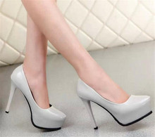 2017 Fashion Sexy Pumps 12 cm High Heels Women Nude Pumps Ladies Platform Shoes Woman Sandals Party bride Shoes Chaussure Femme