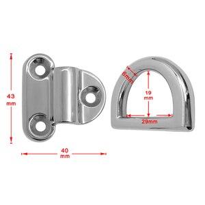Image 5 - 316 in acciaio inox anello a D/6 millimetri Pad Pieghevole Occhio Deck di Ancoraggio Anello Fiocco Bitta per il Rimorchio Marine