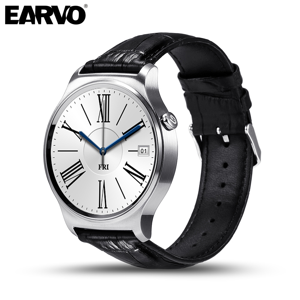 Earvo negocios bluetooth smart watch ips pantalla redonda gw01 vida impermeable