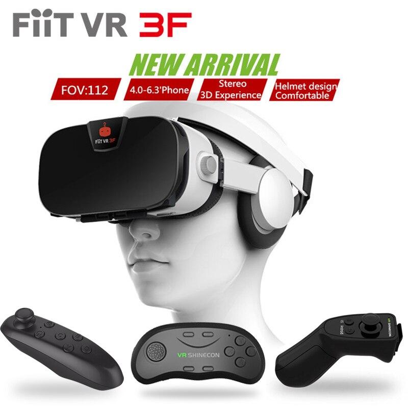 Original fiit vr 3f headset versión de realidad virtual gafas 3d google cartón v