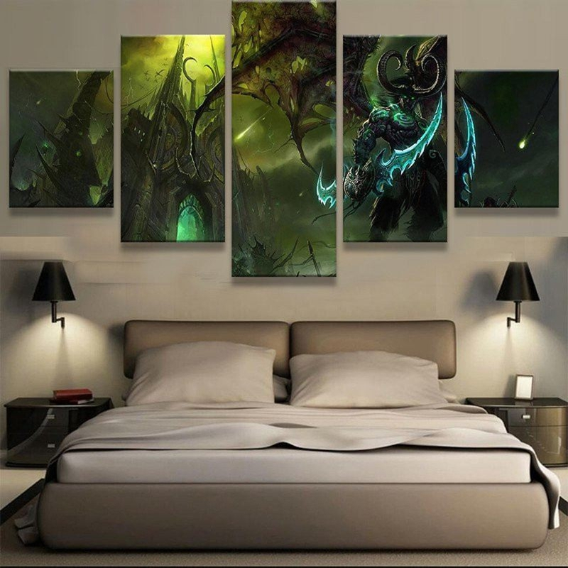 Modular hd printed modern home decor wall art 5 panel for Home decoration images hd