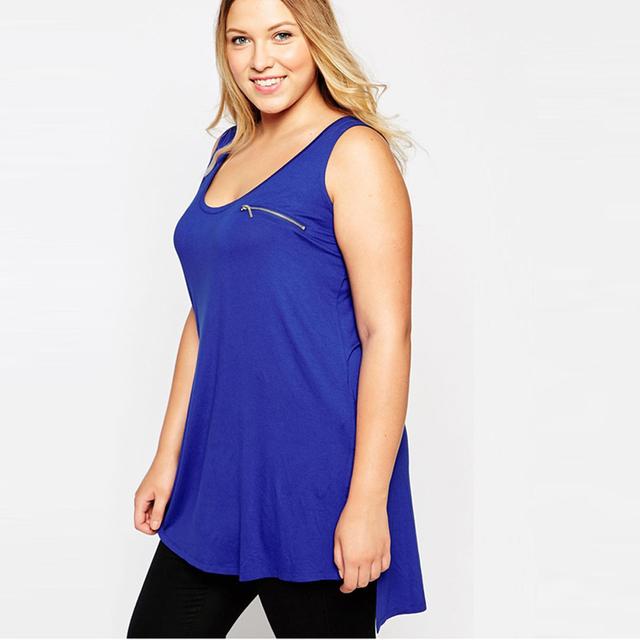 Más el tamaño 5xl nueva moda de verano chaleco tanques tops sin mangas jersey flojo ocasional de gran tamaño soild camisetas top ZT1108