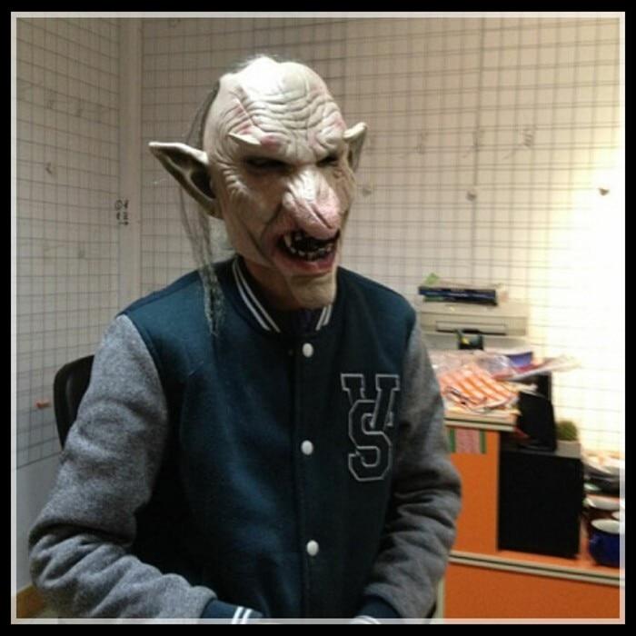 Doprava zdarma Halloween Party Cosplay Latex Goblinová maska, maska zombie, maska party cosplay s vysoce kvalitní maskou Full Head Demon Mask