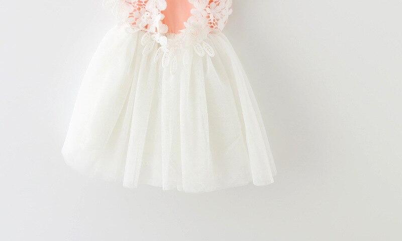 2017 nyári baba lány ruha csipke virág baba hercegnő ruha háló - Bébi ruházat - Fénykép 5