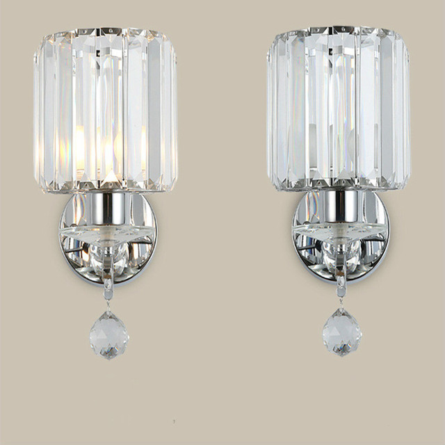 Bedroom Bedside Crystal Wall Lamp Lique Murale Luminaire Led Light Bathroom Lights For Home
