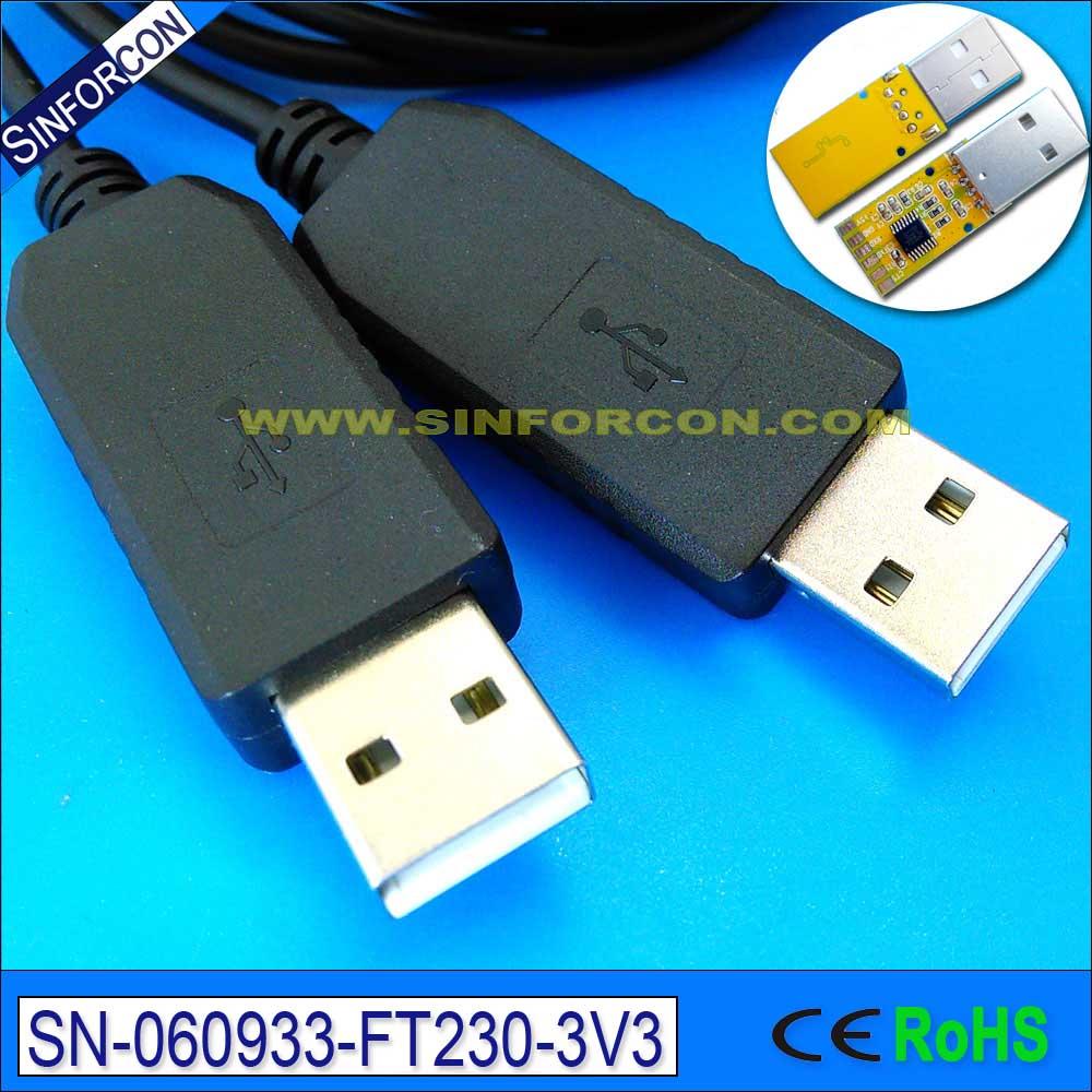 2.0mtr Ftdi Ft230x Uart Ttl Usb To Usb Null Modem Cable Usb Nmc-2.5m