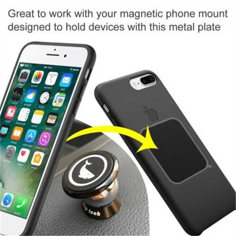 Magnet Mobile Stand Universal Replacement Metal Plate Kit with Adhesive for IPhone X Xs 6 Magnetic Magnet Car Mount Phone Holder