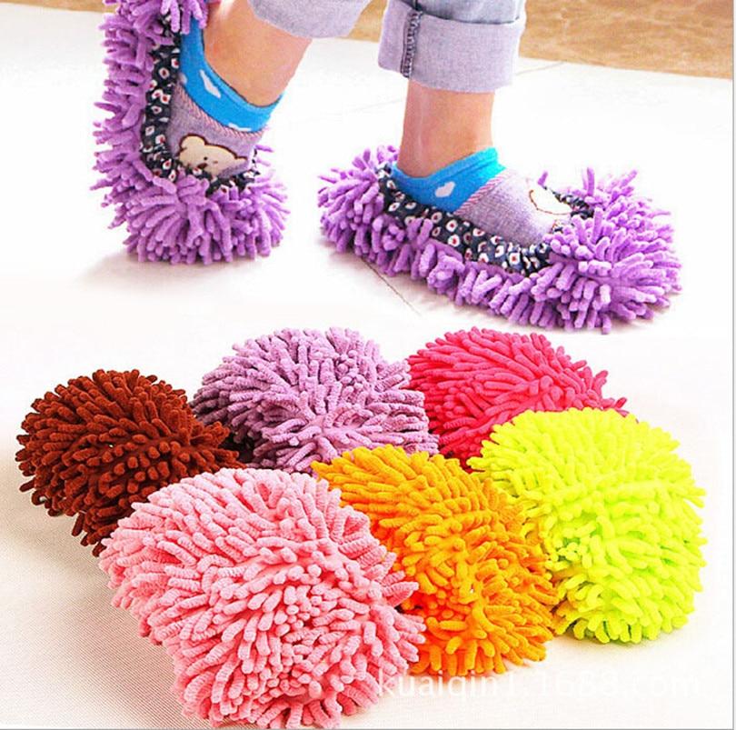 4pcs 2 Pair Microfiber Chenille Floor Dust Cleaning