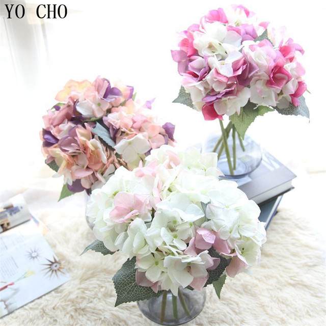 Yo cho artificial flowers hydrangea party wedding decor home wedding yo cho artificial flowers hydrangea party wedding decor home wedding decorative flower wholesale floral silk peony mightylinksfo