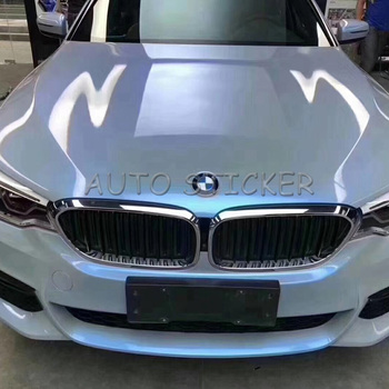 2018 Newest Grey Blue Glossy Car Sticker For Car Wraps Double Colors Glossy Candy Vinyl Film Wrapping Size: 1.52*20M/5X65FT
