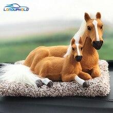 Новый интерьер автомобиля декоративные лошади Декор автомобилей орнамент ABS Плюшевые Лошадь подарок моделирование лошадь игрушка Авто приборной панели лошадь орнамент