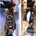 Ems DHL бесплатная доставка маленькие девочки мило мода геометрия мыс джемпер свитер мода вязать свитер куртки