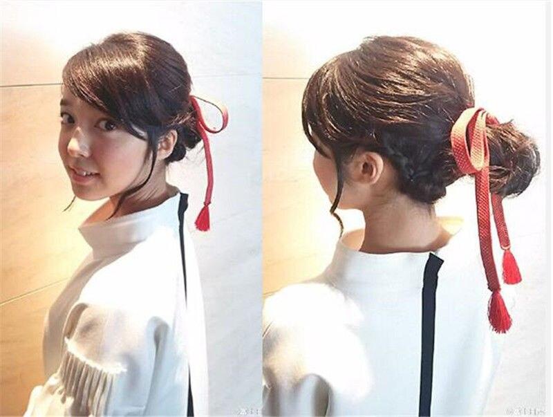 Us 945 50 Offanime Your Name Makoto Shinkai Kimi No Na Wa Miyamiz Mitsuha Hair String Head Rope 35