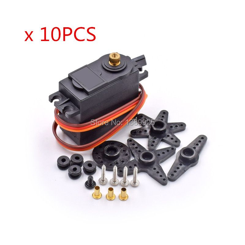 Free shipping 10pcs lot MG995 55g servos Digital Metal Gear rc car robot Servo