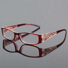 Retro Elegant Metal Spring Hinge Reading Glasses Anti Fatigue Full Frame Women Presbyopia