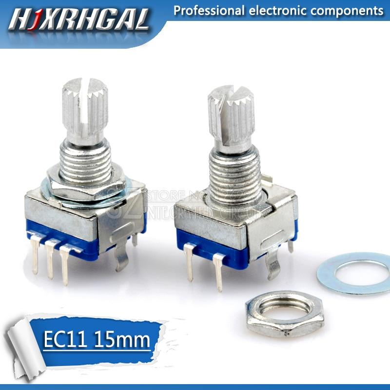 5 pièces poignée prune 15mm encodeur rotatif codage interrupteur/EC11/potentiomètre numérique avec interrupteur 5 broches hjxrhgal