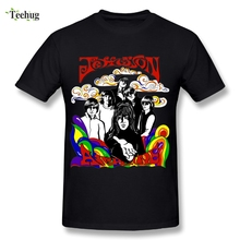 Colorful Rock Jefferson Airplane T Shirt Music Lover Summer Quality Print T-shirt Plus Size