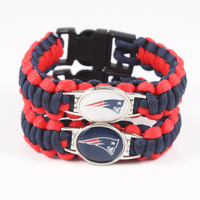 American Football New England Patriots Paracord Bracelet Survival Drop Shipping 10pcs