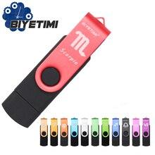 Biyetimi 12 созвездий USB флэш-накопитель металлический накопитель 64 ГБ Флешка 8 Гб OTG внешний накопитель micro usb карта памяти флэш-накопитель