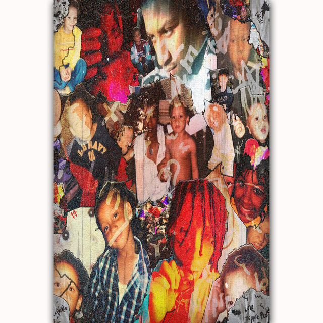 Us 589 Mq1315 Trippie Redd List Miłosny Do Pop Muzyka Piosenkarka Gwiazda Hot Plakat Artystyczny Jedwabiu światło Płótno Wystrój Domu ściany Obraz