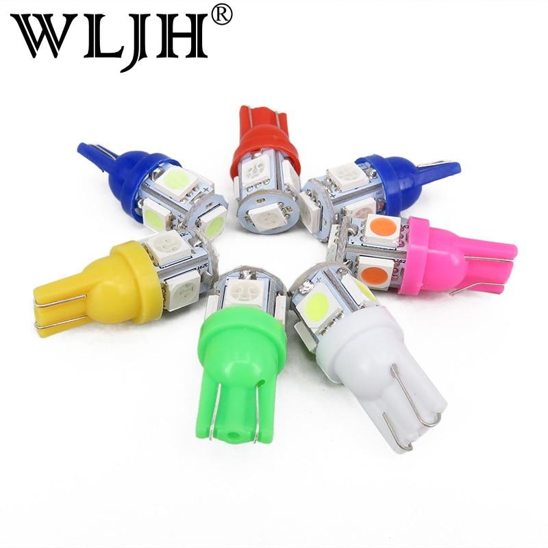 WLJH 10 x яркий Белый 360 градусов 5050 СМД 168 194 2825 W5W и Лампа T10 автомобилей светодиодные лампы для номерного знака огни оптом