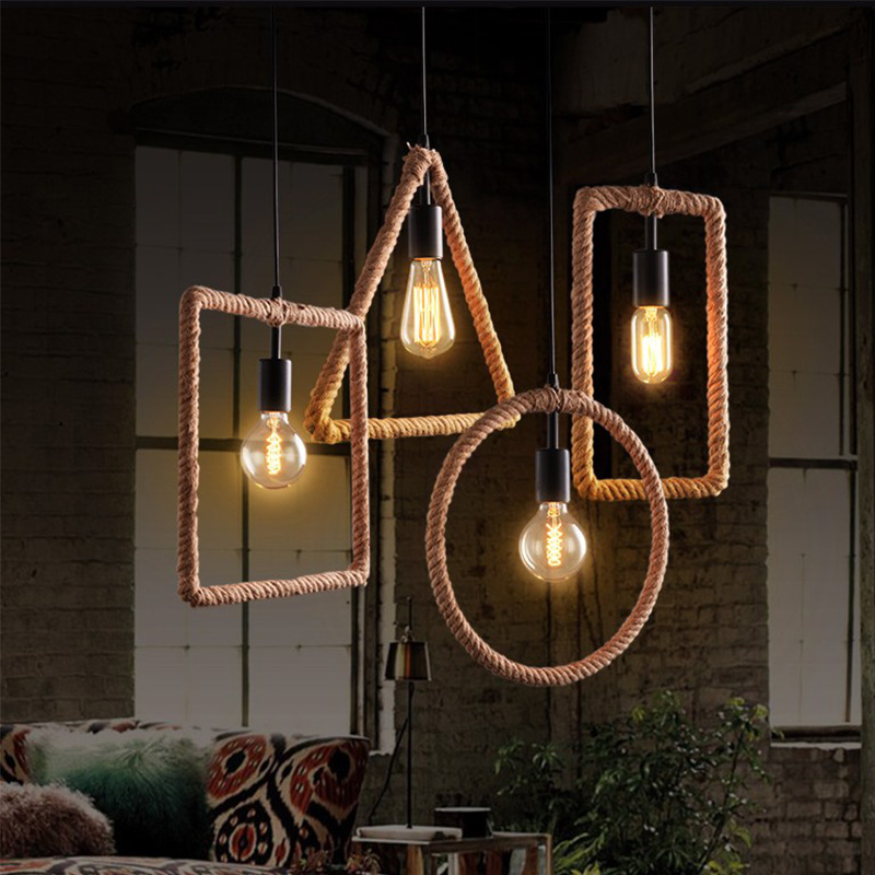 ФОТО Loft Industry Contracted Geometric Vintage Wrought Iron Cafe Restaurant Bar Clothing Store Droplight