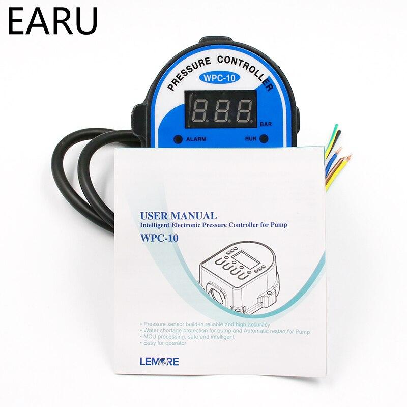 """Image 5 - 1 шт. WPC 10 цифровой переключатель давления воды цифровой дисплей WPC 10 Eletronic контроллер давления для водяного насоса с G1/2 """"адаптером-in Выключатели from Товары для дома"""