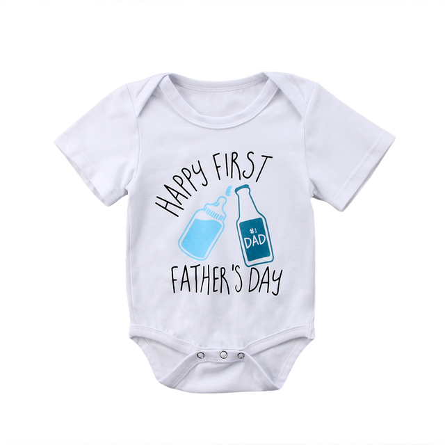77893aa6 Father`Day Newborn Baby Boy Girl Summer Bodysuit Jumpsuit Outfits Clothes-in  Bodysuits from Mother & Kids on Aliexpress.com | Alibaba Group