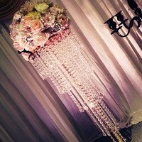 80cm Tall wedding crystal table centerpiece 30pcs/lot including the flowers