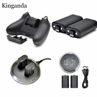 Charge Kit 2 x Akku + Charging Dock Station für XBOX EIN Controller Mit Licht Zeigt Ladevorgang Und USB kabel