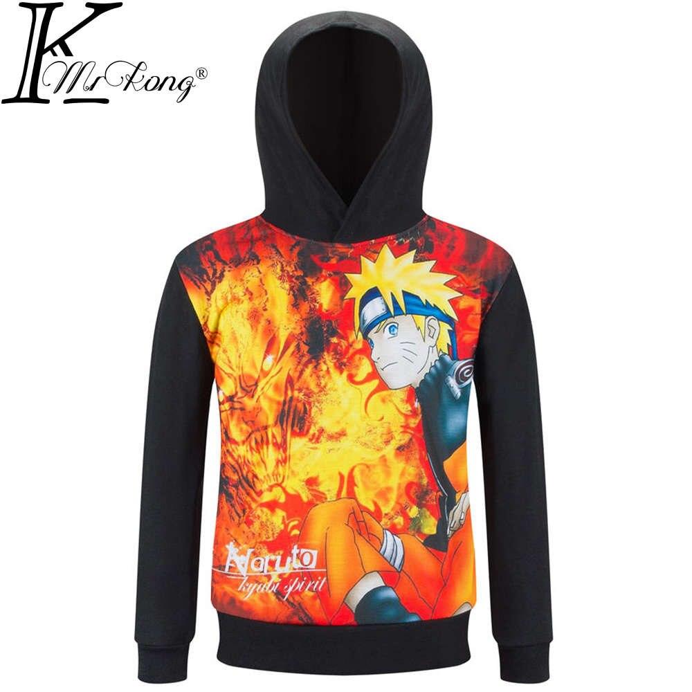 2017, Новая мода uzumaki Naruto Толстовка детская толстовка с капюшоном для мальчиков и девочек Аниме Костюмы Куртка для детей От 3 до 10 лет