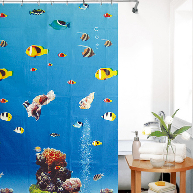 shower curtains send free hanging ring waterproof anti moldy curtains random colo - Free Colo