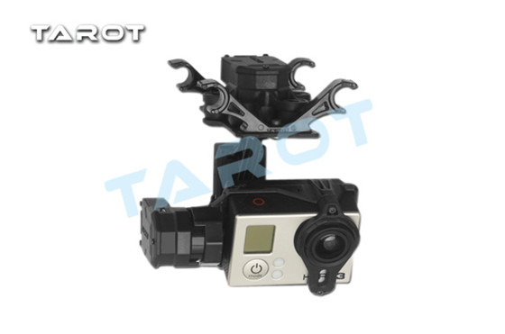 Tarot T4-3D Tarot 3 Axis Gimbal Brushless camera mount For Gopro Hero4/GOpro3+/Gopro3 TL3D01 Free Track Shipping dji phantom 2 build in naza gps with zenmuse h3 3d 3 axis gimbal for gopro hero 3 camera