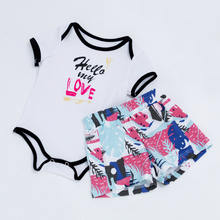 YK&Loving new summer boy baby white clothing sets Valentine's Day coloful shorts 0-2 years  short sleeve romper infantil cotton yk series pressure switch controller yk 01h 2 76 2 07