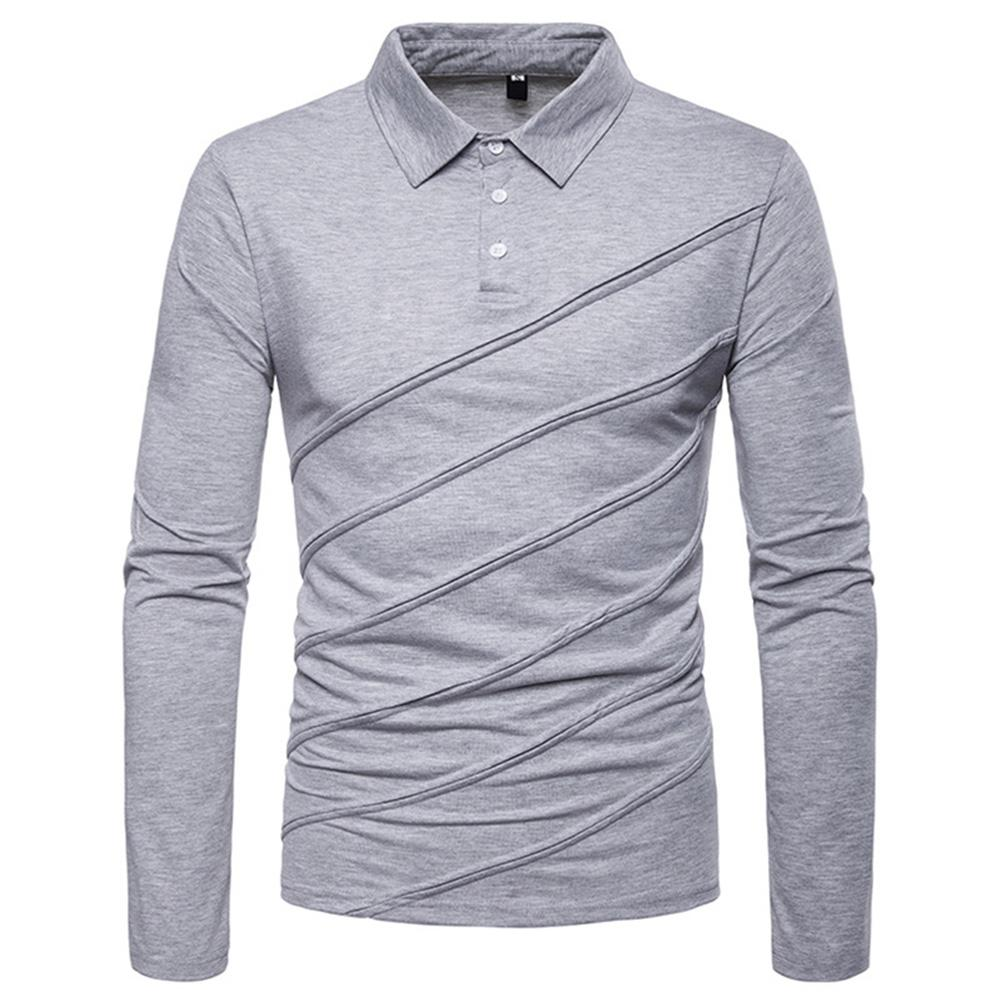 MISSKY Men   Polo   Shirt Casual Shirts Solid Color Long Sleeve   POLOS   Pullover Casual Slim Fit Tops