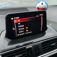 Lapetus для Mazda 3 AXELA хэтчбек седан ABS Авто Стайлинг приборная панель навигация gps дисплей экран рамка Крышка отделка