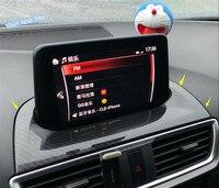 Lapetus For Mazda 3 AXELA Hatchback Sedan 2017 2018 ABS Auto Styling Dashboard Navigation GPS Display Screen Frame Cover Trim