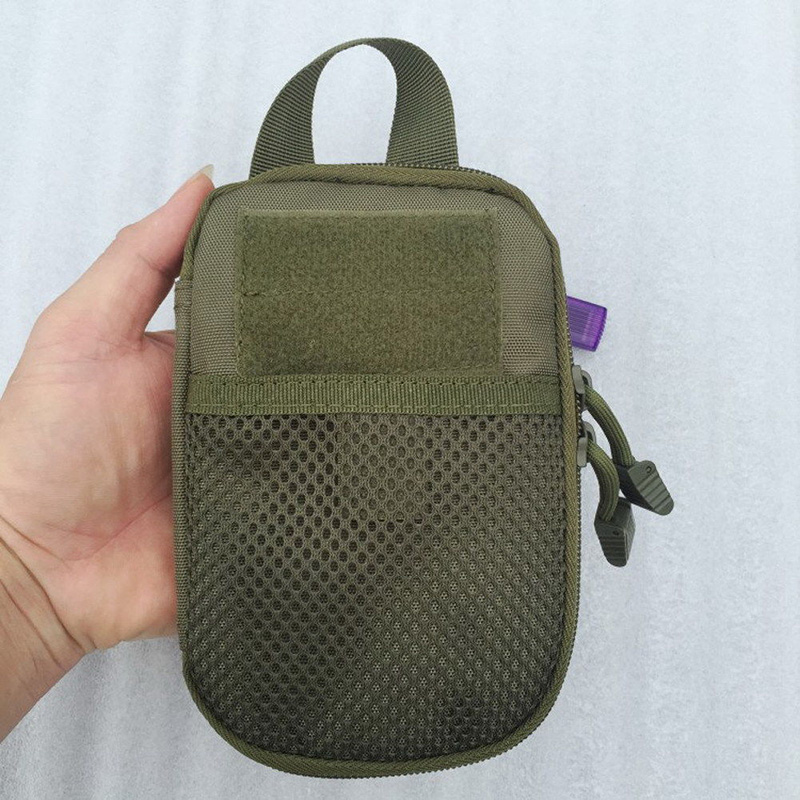 Outdoor Nylon Tactical Bag Molle Military Waist Fanny Pack Mobile Phone Case Key Mini Tools Pouch Sport Bag