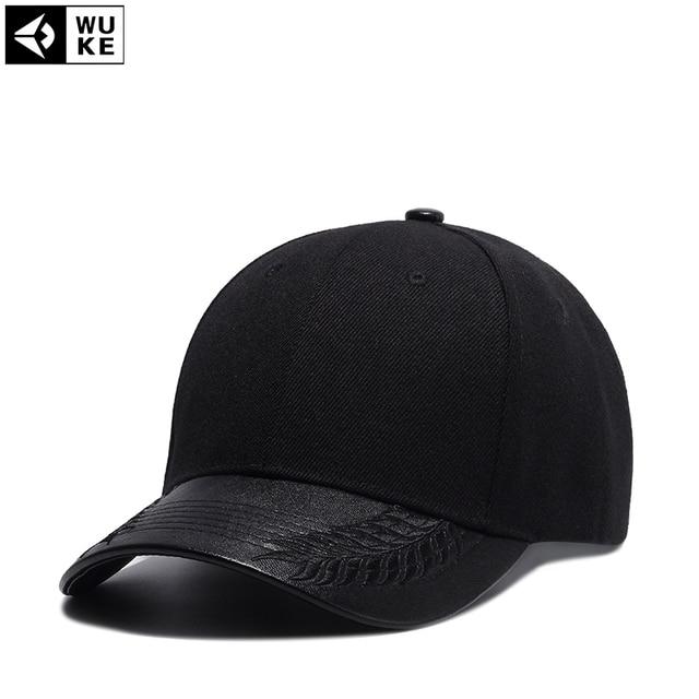 efc458416ab Wuke Adult Unisex Casual Black Solid Adjustable Baseball Caps Snapback Hats  For Men Baseball Cap Women