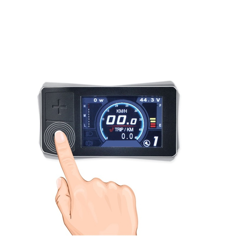 500C Mini Color Display For Bafang Mid Crank Motor Conversion Kit BBS01 BBS02 BBSHD eBike Speedometer