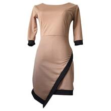 New New Fashion Women Casual Mini Dress Summer Knitted Clothing Lady ClubWear Khaki S