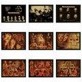 Rammstein Vintage Retro rock band music Guitarra Fosco Kraft Papel Poster Adesivo de Parede Casa Decora