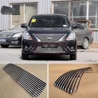 Сплав алюминия спереди центр Гонки сетка бампер грили Заготовка решетка крышка для Nissan Sunny 2014