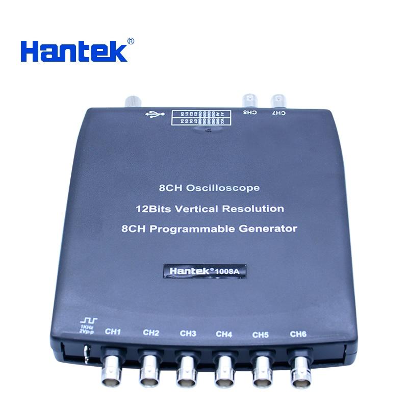 Hantek 1008C 8CH PC USB Automotive Diagnostic Digital Oscilloscope DAQ Program Generator  2.4MSa/s Vehicle Tester pc 8ch automotive diagnostic oscilloscope daq programmable generator 1008b