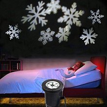Christmas Projection Lights Moving Snowflake LED Garden Projector Light Outdoor Decoration Spotlight Home Wall Tree