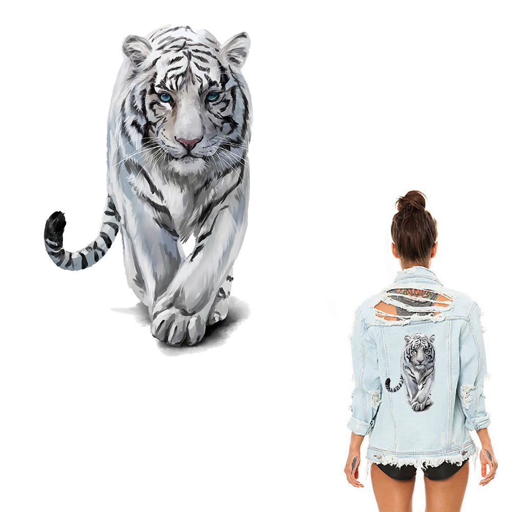 Xc Tiger Clothes Patches Heat Transfers Stickers Iron-on Patch Diy Handmade Decoration Appliques For Jeans Coats T-shirts