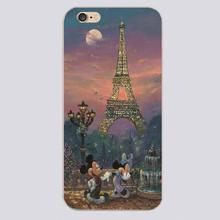 Mickey Minnie cartoon Design black skin case cover cell mobile phone cases for iphone 4 4s